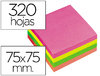 BLOCO DE NOTAS ADESIVAS Q-CONNECT FLUORESCENTE 75 X 75 MM