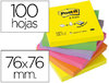 BLOCO DE NOTAS ADESIVAS POST-IT SORTIDO. 76 X 76 MM