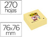 BLOCO DE NOTAS ADESIVAS POST-IT SUPER STICKY 76X76 MM CUBO COM 270 FOLHAS AMARELO CANARIO